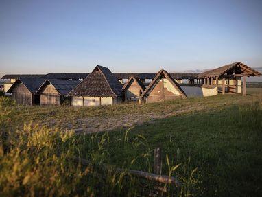 Heuneburg - Stadt Pyrene, Häuser von den Kelten