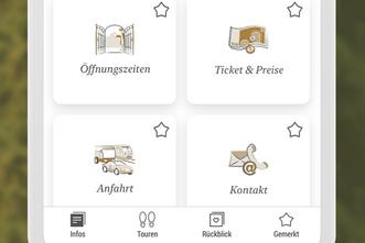 Unterseite der Heuneburg-App auf einem Mobiltelefon