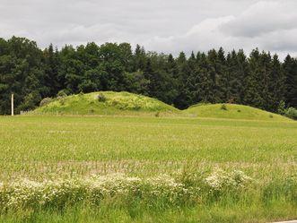 Grabhügel im Umfeld der Heuneburg - Stadt Pyrene