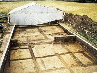 Ausgrabungsaufnahmen auf der Fläche der Heuneburg