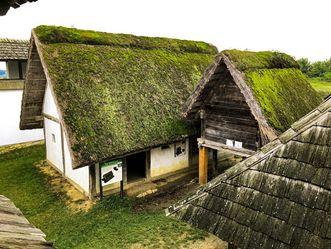 Heuneburg - Stadt Pyrene, Rekonstruierte Keltenhäuser