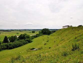 Außenansicht Ostseite Heuneburg - Stadt Pyrene