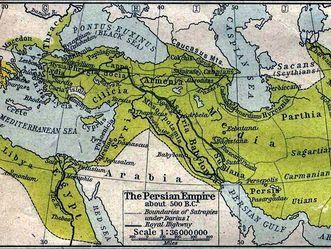 Atlasabbildung Perserreich 500 v.Chr.
