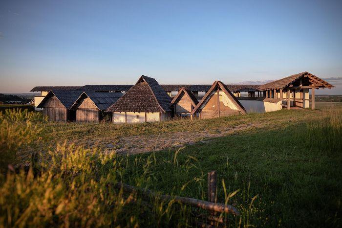Heuneburg – Stadt Pyrene, Rekonstruktion der Werkstätten und Wohnhäuser