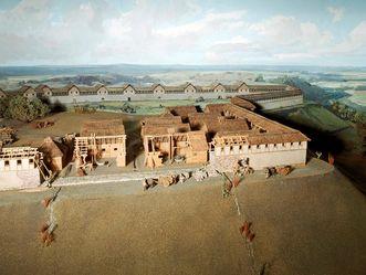 Modell der keltischen Heuneburg